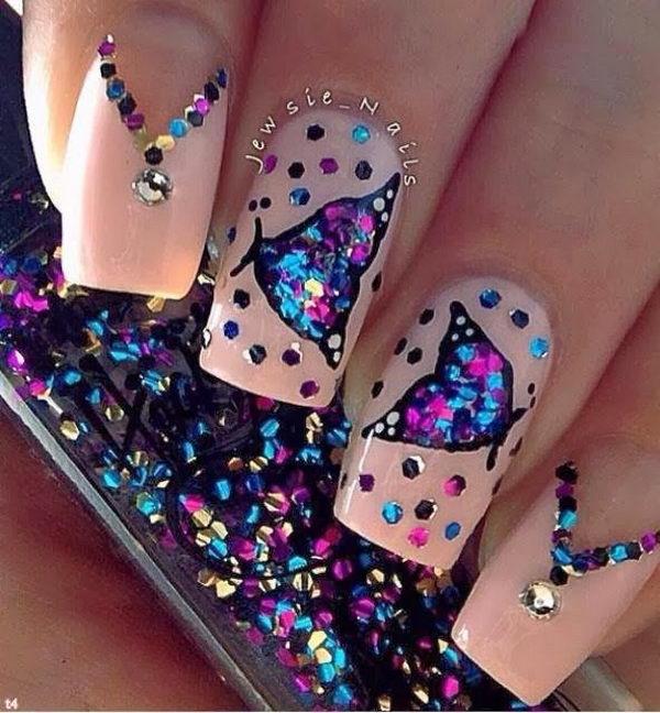 2 2 butterfly nail art designs - 30+ Pretty Butterfly Nail Art Designs