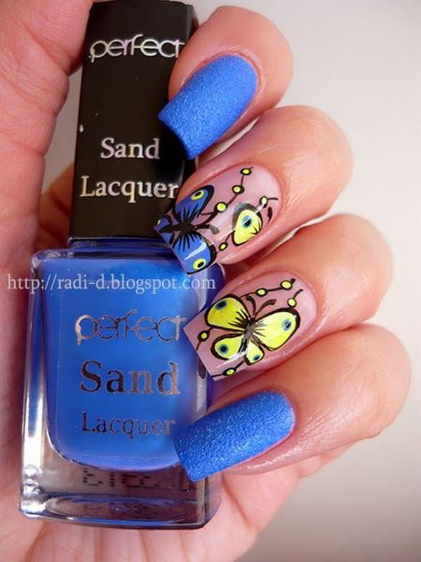29 butterfly nail art designs - 30+ Pretty Butterfly Nail Art Designs