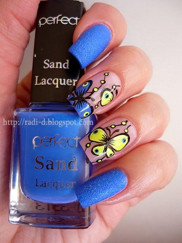 29 butterfly nail art designs - 30+ Pretty Butterfly Nail Art Designs