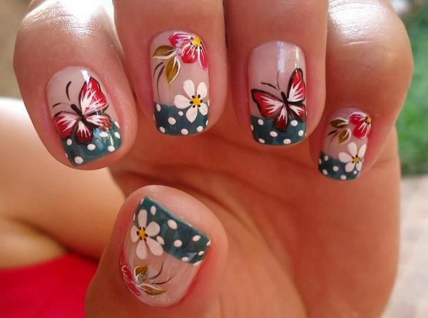 8 butterfly nail art designs - 30+ Pretty Butterfly Nail Art Designs