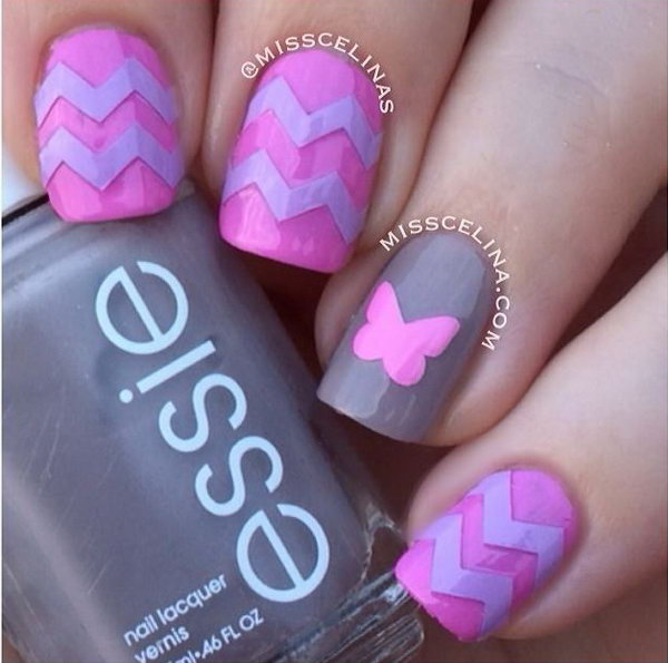 9 butterfly nail art designs - 30+ Pretty Butterfly Nail Art Designs