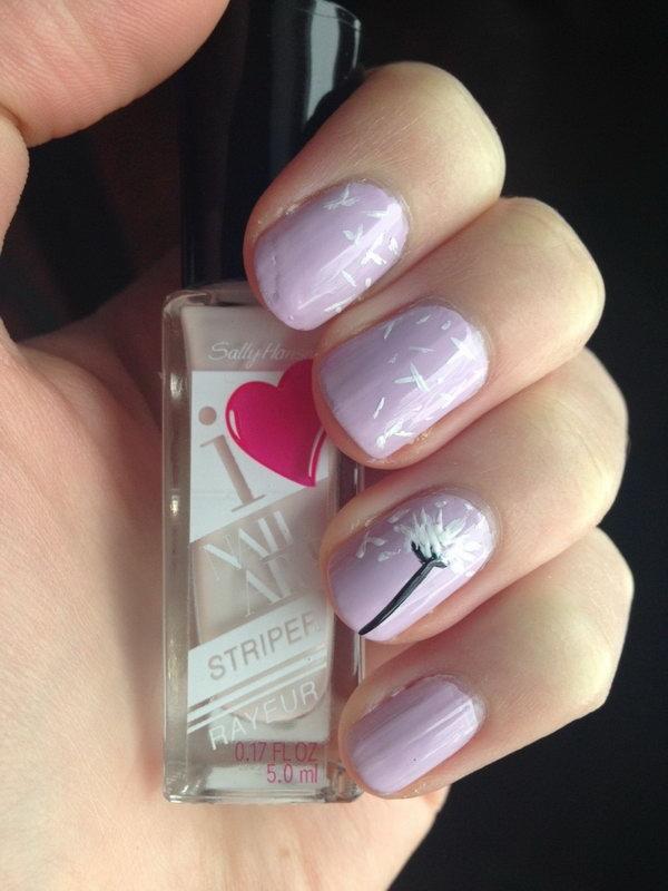 16 dandelion nail art - 40+ Cute Dandelion Nail Art Designs And Tutorials – Make a Dandelion Wish