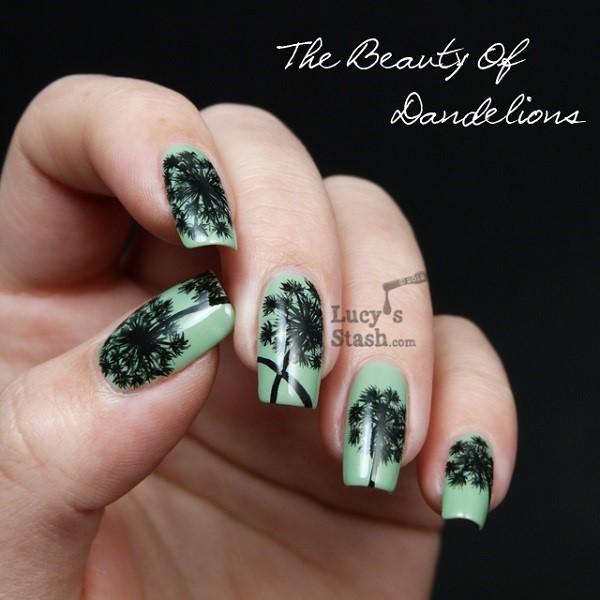 18 dandelion nail art - 40+ Cute Dandelion Nail Art Designs And Tutorials – Make a Dandelion Wish