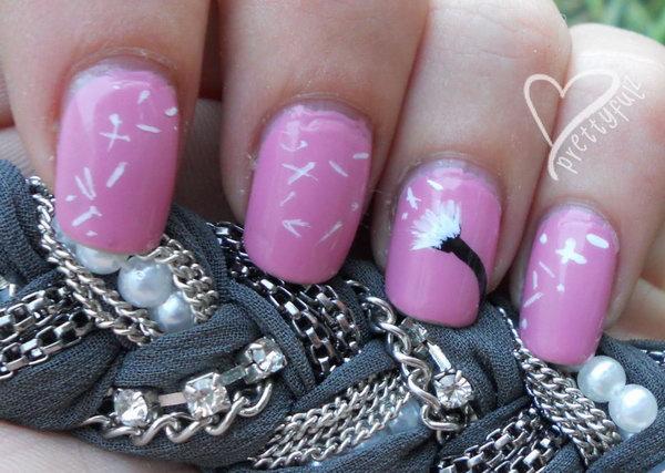 19 dandelion nail art - 40+ Cute Dandelion Nail Art Designs And Tutorials – Make a Dandelion Wish
