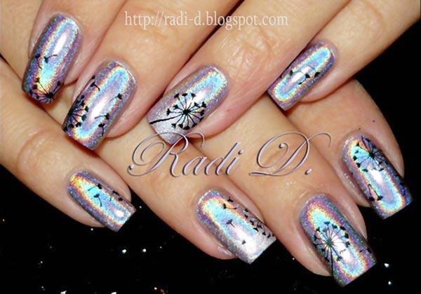 33 dandelion nail art - 40+ Cute Dandelion Nail Art Designs And Tutorials – Make a Dandelion Wish
