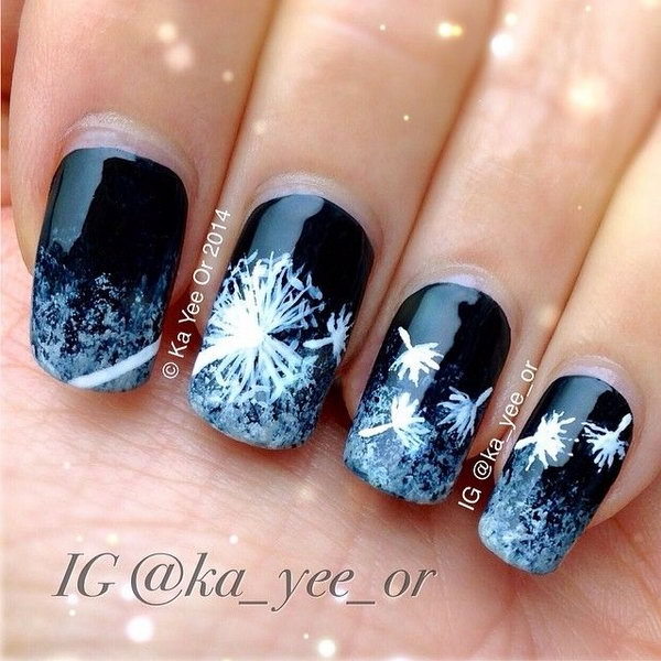 38 dandelion nail art - 40+ Cute Dandelion Nail Art Designs And Tutorials – Make a Dandelion Wish