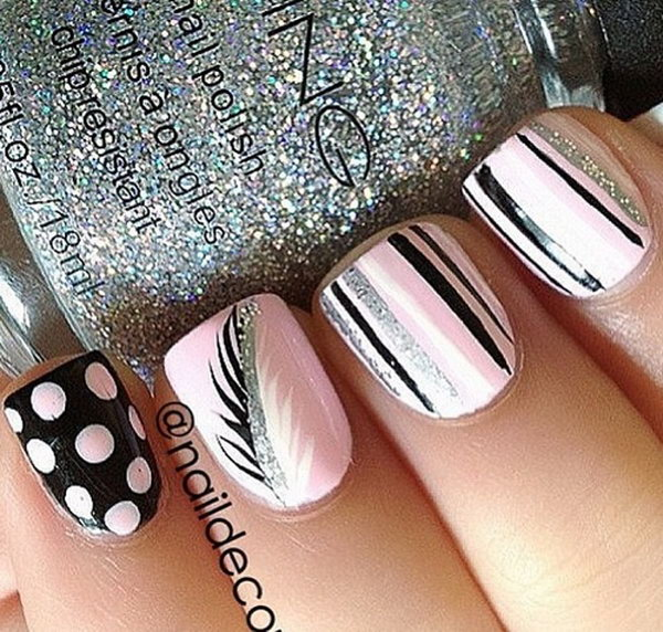 12 feather nail art - 40+ Pretty Feather Nail Art Designs And Tutorials