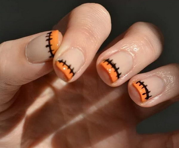13 french tip nail designs - 60 Fashionable French Nail Art Designs And Tutorials