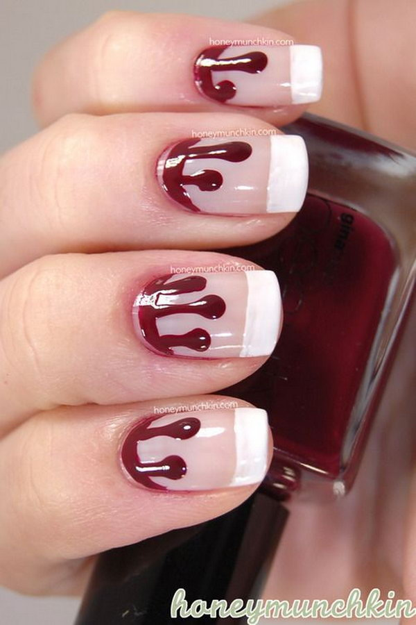 15 french tip nail designs - 60 Fashionable French Nail Art Designs And Tutorials