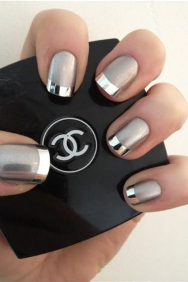 19 french tip nail designs - 60 Fashionable French Nail Art Designs And Tutorials
