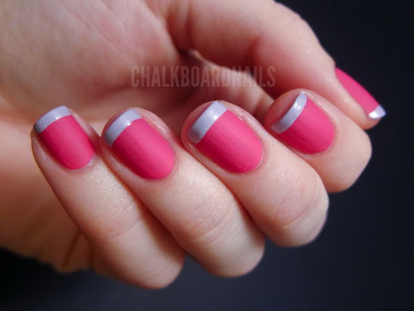 2 french tip nail designs - 60 Fashionable French Nail Art Designs And Tutorials