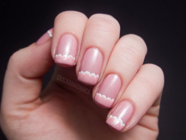 25 french tip nail designs - 60 Fashionable French Nail Art Designs And Tutorials