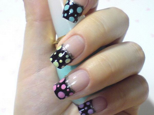 27 french tip nail designs - 60 Fashionable French Nail Art Designs And Tutorials
