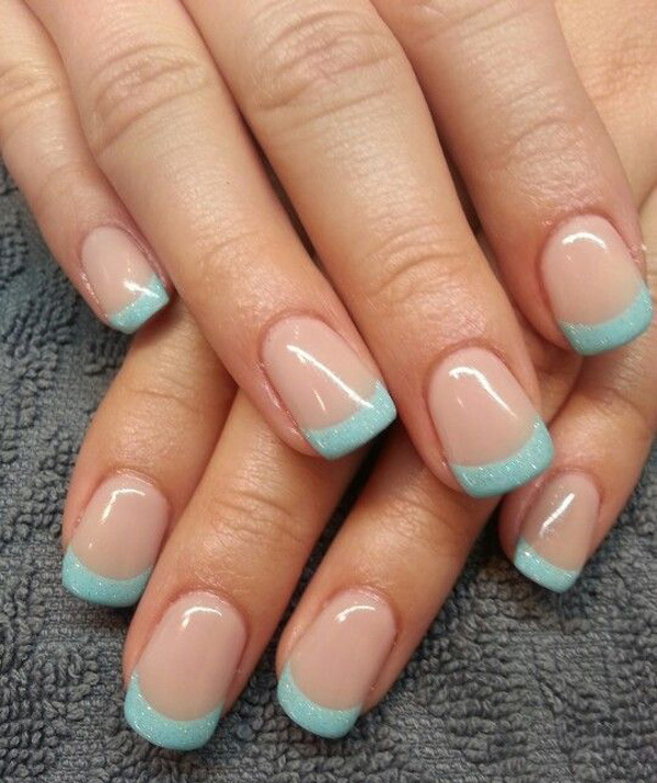 37 french tip nail designs - 60 Fashionable French Nail Art Designs And Tutorials
