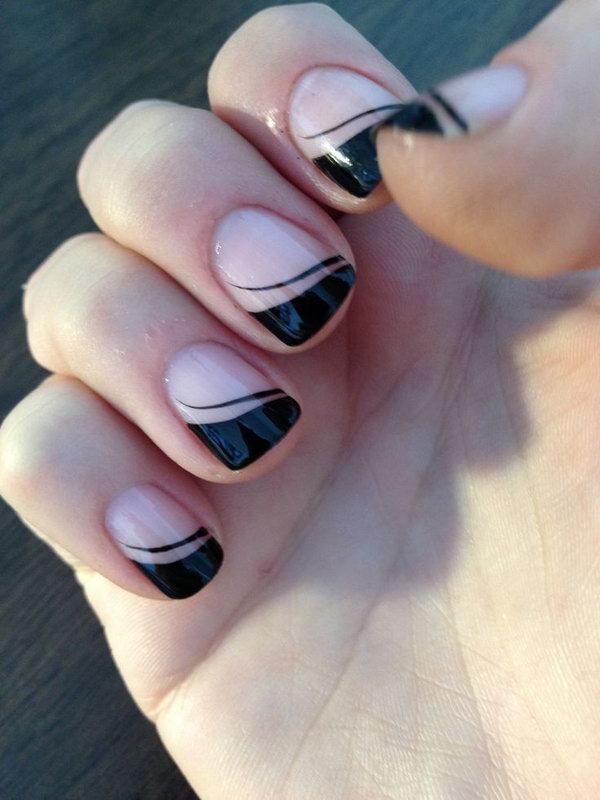 38 french tip nail designs - 60 Fashionable French Nail Art Designs And Tutorials