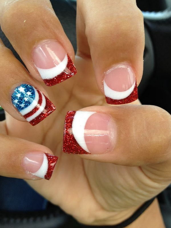 39 french tip nail designs - 60 Fashionable French Nail Art Designs And Tutorials