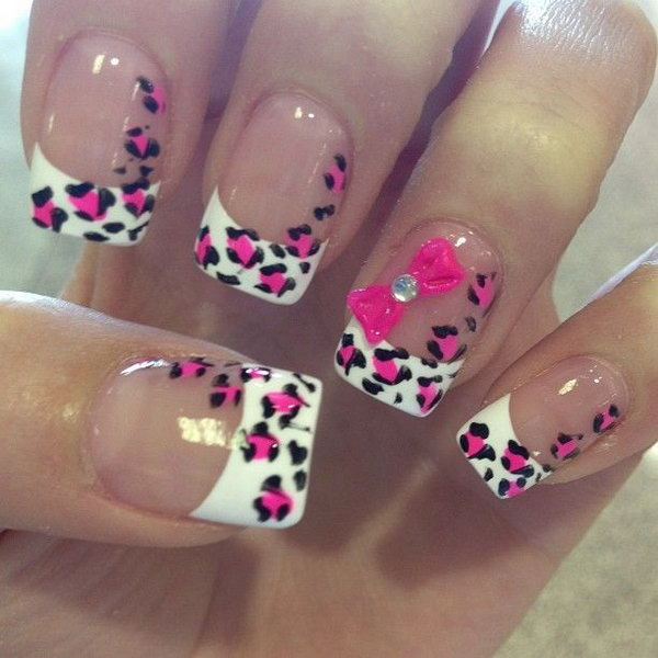 41 french tip nail designs - 60 Fashionable French Nail Art Designs And Tutorials