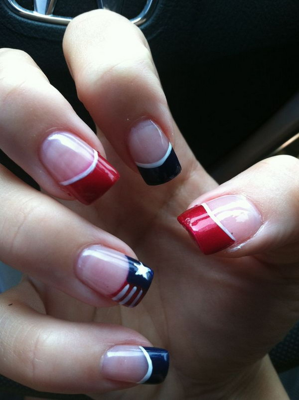 54 french tip nail designs - 60 Fashionable French Nail Art Designs And Tutorials