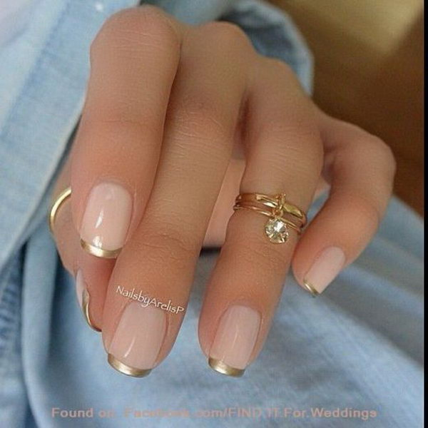 56 french tip nail designs - 60 Fashionable French Nail Art Designs And Tutorials