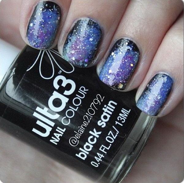 1 galaxy nail art - 50 Gorgeous Galaxy Nail Art Designs and Tutorials