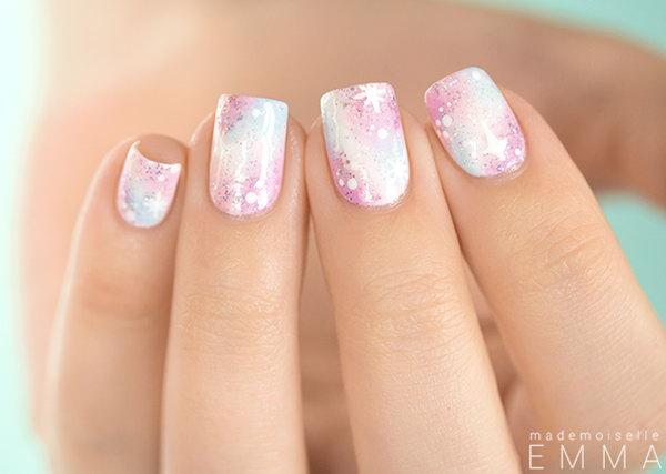 15 galaxy nail art - 50 Gorgeous Galaxy Nail Art Designs and Tutorials