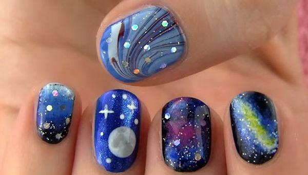 28 galaxy nail art - 50 Gorgeous Galaxy Nail Art Designs and Tutorials