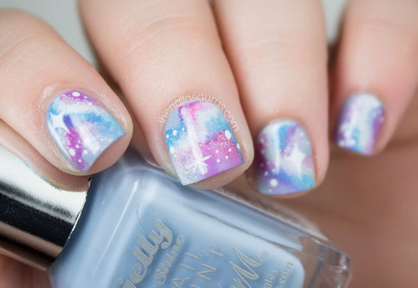 39 galaxy nail art - 50 Gorgeous Galaxy Nail Art Designs and Tutorials