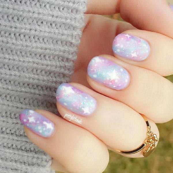 44 galaxy nail art - 50 Gorgeous Galaxy Nail Art Designs and Tutorials
