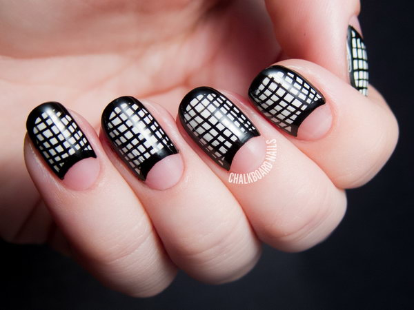1 half moon nail art - 60+ Stunning Half Moon Nail Art Designs & Tutorials
