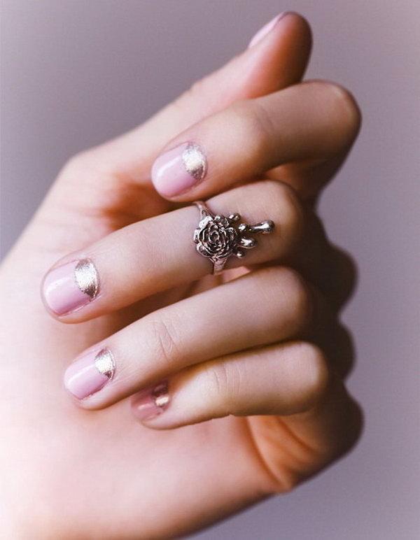 25 half moon nail art - 60+ Stunning Half Moon Nail Art Designs & Tutorials