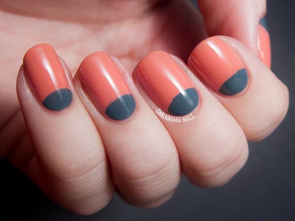 4 half moon nail art - 60+ Stunning Half Moon Nail Art Designs & Tutorials