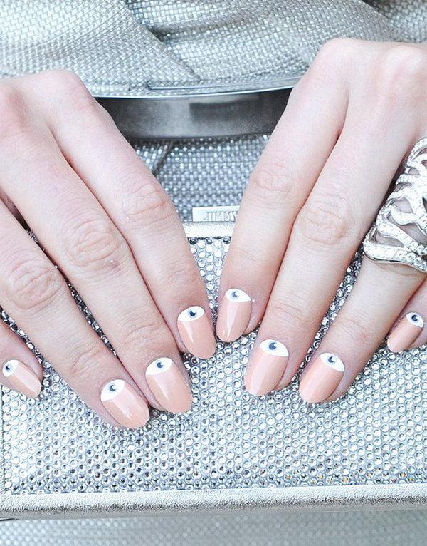 40 half moon nail art - 60+ Stunning Half Moon Nail Art Designs & Tutorials