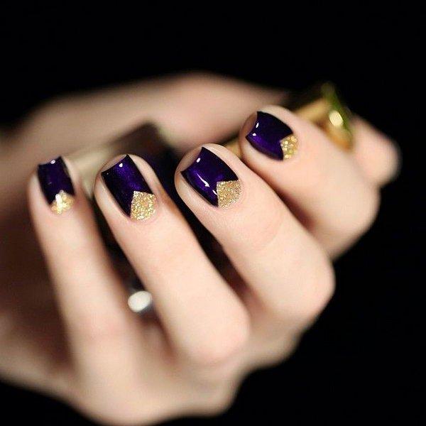 47 half moon nail art - 60+ Stunning Half Moon Nail Art Designs & Tutorials