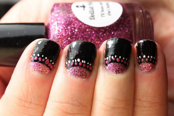 59 half moon nail art - 60+ Stunning Half Moon Nail Art Designs & Tutorials