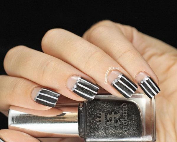 61 half moon nail art - 60+ Stunning Half Moon Nail Art Designs & Tutorials