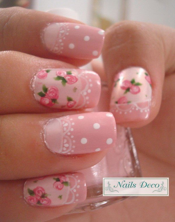 15 lace nail art - 60 Lace Nail Art Designs & Tutorials For You To Get The Fashionable Look