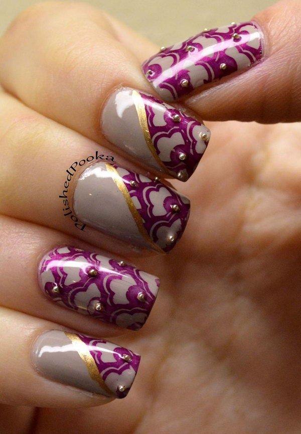 16 lace nail art - 60 Lace Nail Art Designs & Tutorials For You To Get The Fashionable Look