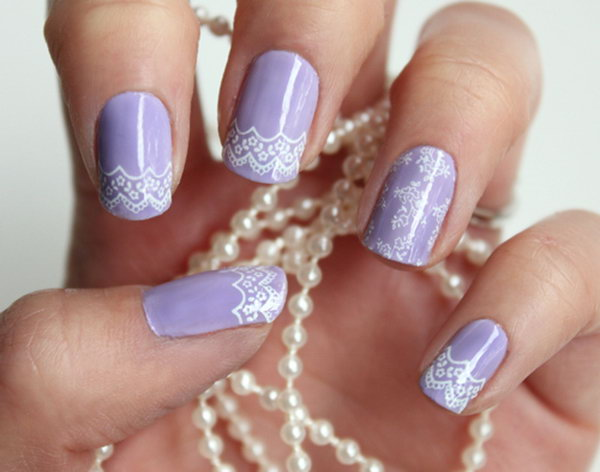 2 lace nail art - 60 Lace Nail Art Designs & Tutorials For You To Get The Fashionable Look