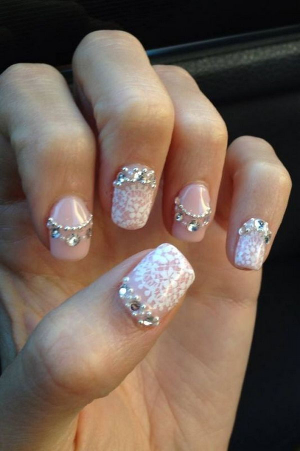 28 lace nail art - 60 Lace Nail Art Designs & Tutorials For You To Get The Fashionable Look