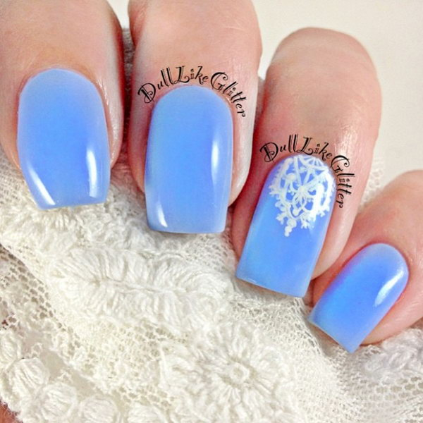 32 lace nail art - 60 Lace Nail Art Designs & Tutorials For You To Get The Fashionable Look