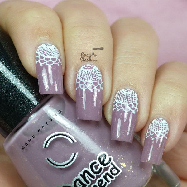 41 lace nail art - 60 Lace Nail Art Designs & Tutorials For You To Get The Fashionable Look