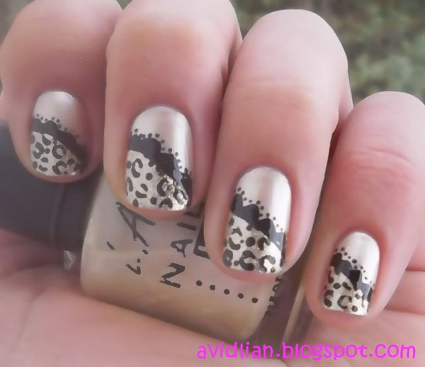 47 lace nail art - 60 Lace Nail Art Designs & Tutorials For You To Get The Fashionable Look