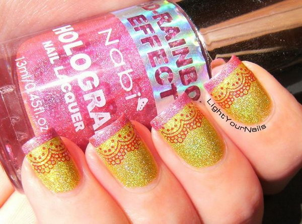 49 lace nail art - 60 Lace Nail Art Designs & Tutorials For You To Get The Fashionable Look