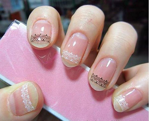 53 lace nail art - 60 Lace Nail Art Designs & Tutorials For You To Get The Fashionable Look
