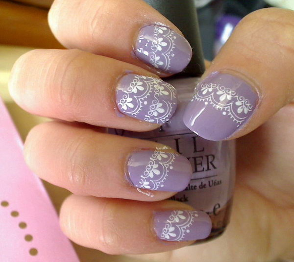 55 lace nail art - 60 Lace Nail Art Designs & Tutorials For You To Get The Fashionable Look