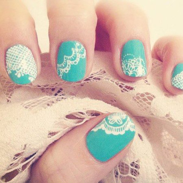 58 lace nail art - 60 Lace Nail Art Designs & Tutorials For You To Get The Fashionable Look