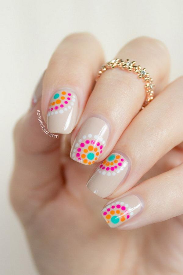 20 polka dots nail art designs - 50+ Stylish Polka Dots Nail Art Designs