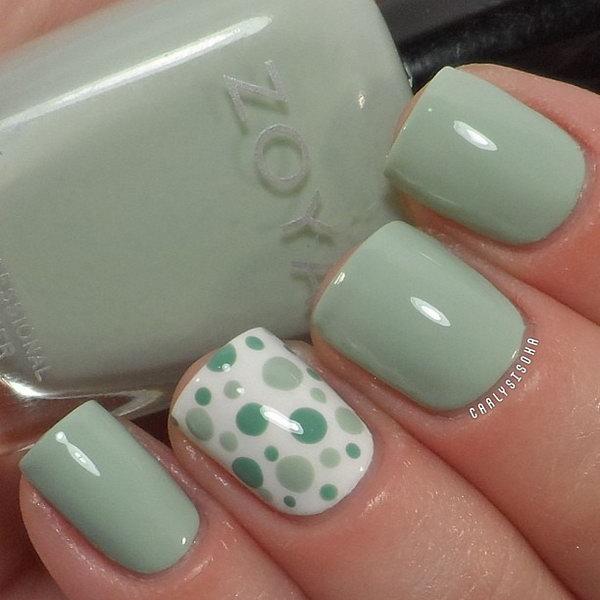 30 polka dots nail art designs - 50+ Stylish Polka Dots Nail Art Designs