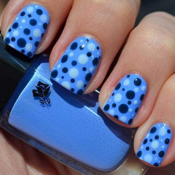 35 polka dots nail art designs - 50+ Stylish Polka Dots Nail Art Designs