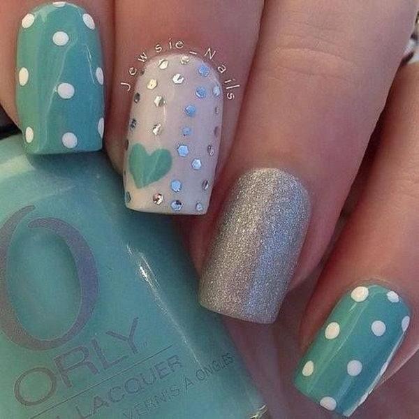 37 polka dots nail art designs - 50+ Stylish Polka Dots Nail Art Designs